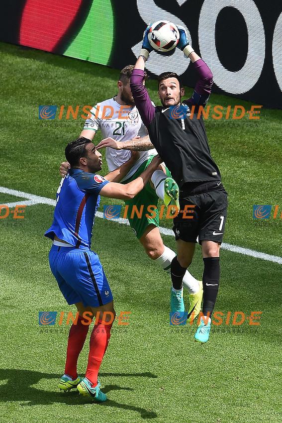 hugo lloris (france) vs daryl murphy (eire) <br /> Lyon 26-06-2016 Stade de Lyon Football Euro2016 France - Ireland / Francia - Irlanda Round of 16. Foto Frederic Chambert / Panoramic / Insidefoto