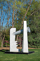 Two Face Telescope by Strong-Cuevas, Grounds for Sculpture, Hamilton, New Jersey, USA