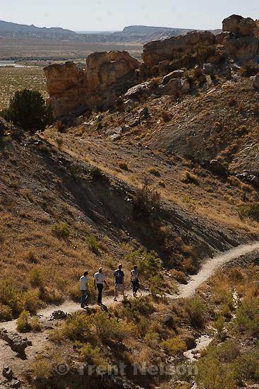 Trent Nelson  |  The Salt Lake Tribune.fossil discovery trail, horsfall family, Dinosaur National Monument Visitors Center near Jensen, Utah, Thursday, September 29, 2011.