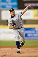 Starting pitcher Mike Dunn (26) of the Tampa Yankees in action at Roger Dean Stadium in Jupiter, FL, Wednesday July 16, 2008. (Photo by Brian Westerholt / Four Seam Images)