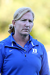 16 October 2015: Duke head coach Pam Bustin. The University of North Carolina Tar Heels hosted the Duke University Blue Devils at Francis E. Henry Stadium in Chapel Hill, North Carolina in a 2015 NCAA Division I Field Hockey match. UNC won the game 2-1.