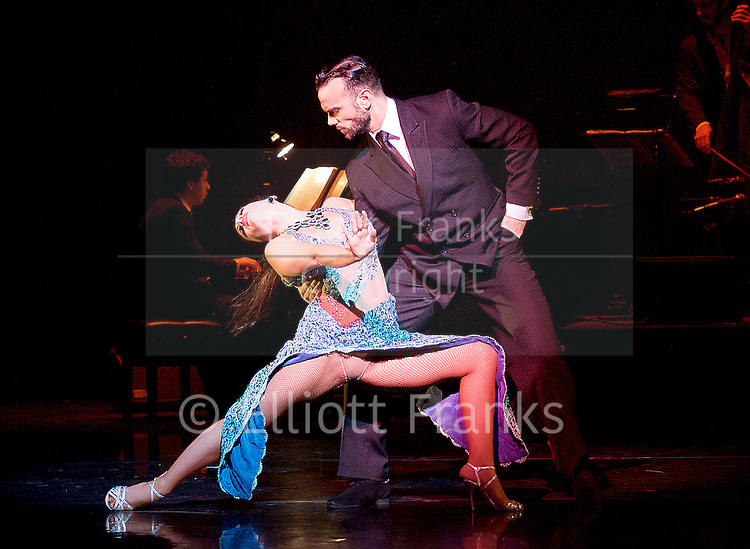 Tango Fire <br /> at The Peacock Theatre, London, Great Britain <br /> press photocall <br /> 30th January 2017 <br /> <br /> German Cornejo's Tango Fire<br /> <br /> <br /> <br /> <br /> <br /> Pata Ancha <br /> <br /> Mariano Balois &amp; Florencia Roldan <br /> <br /> <br /> <br /> <br /> <br /> <br /> Photograph by Elliott Franks <br /> Image licensed to Elliott Franks Photography Services