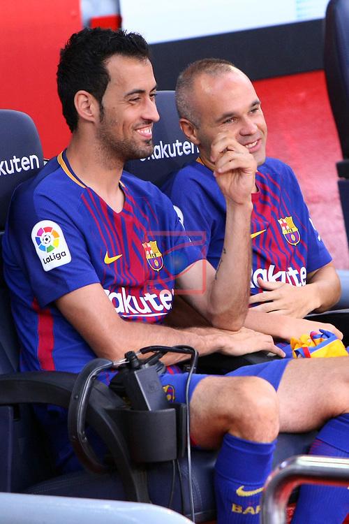 52e Trofeu Joan Gamper.<br /> FC Barcelona vs Chapecoense: 5-0.<br /> Sergio Busquets &amp; Andres Iniesta.