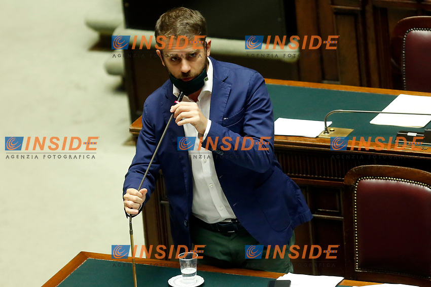 Undersecretary Vittorio Ferraresi at the Chamber of Deputies, during the final vote on the Justice Decree. Rome (Italy), June 25th 2020<br /> Foto Samantha Zucchi Insidefoto