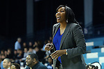 12 December 2012: NC Central head coach Vanessa Taylor. The University of North Carolina Tar Heels played the North Carolina Central University Eagles at Carmichael Arena in Chapel Hill, North Carolina in an NCAA Division I Women's Basketball game. UNC won the game 49-21.