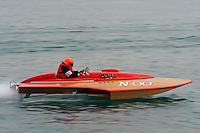 """Dick Delsener, N-00 """"North Star"""" 225 class Colcock hydroplane..10-12 July, 2009, 100th Gold Cup, Detroit River, Detroit, MI USA..©2009 F.Peirce Williams, USA."""