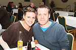Natasha McCarthy and Mark Dunne at the quiz in aid of Niall Mellon Building Project in the Boyne Valley Hotel...(Photo credit should read Jenny Matthews www.newsfile.ie)....This Picture has been sent you under the condtions enclosed by:.Newsfile Ltd..The Studio,.Millmount Abbey,.Drogheda,.Co Meath..Ireland..Tel: +353(0)41-9871240.Fax: +353(0)41-9871260.GSM: +353(0)86-2500958.email: pictures@newsfile.ie.www.newsfile.ie.
