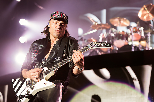 May 6, 2016. Concord, North Carolina. <br /> Matthias Jabs of The Scorpions closed out the opening night of the Carolina Rebellion.<br />  The 2016 Carolina Rebellion was held over May 6-8 next to the Charlotte Motor Speedway and featured over 50 bands including headliners Lynyrd Skynyrd, The Scorpions, Five Finger Death Punch, Disturbed, and Rob Zombie.