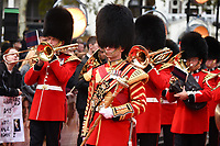Band of the Irish Guards at the World Premiere of &quot;Goodbye Christopher Robin&quot; at the Odeon Leicester Square, London, UK. <br /> 20 September  2017<br /> Picture: Steve Vas/Featureflash/SilverHub 0208 004 5359 sales@silverhubmedia.com