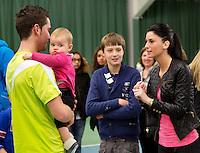 19-01-13, Tennis, Rotterdam, Wildcard for qualification ABNAMROWTT, Jesse Timmermans met baby