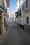 Narrow alleyway in the old Moorish area of Alhama de Granada, Spain