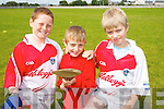 Pictured at the hurling Cul Camp at Na Gaeil GAA Club on Friday were, l-r: Jim Cadigan, Finn Healy, Danny Walsh.