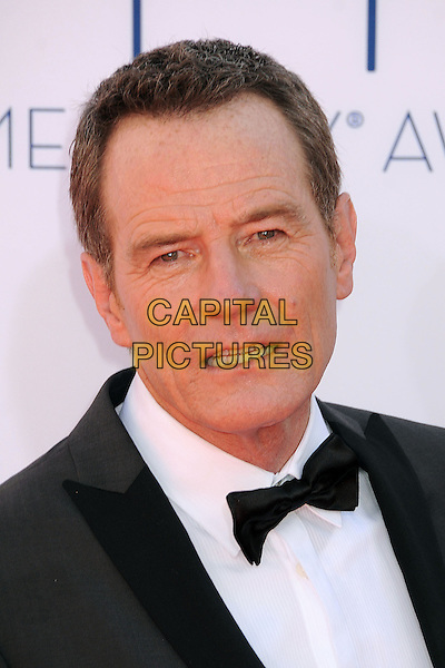 Bryan Cranston.The 64th Anual Primetime Emmy Awards - Arrivals, held at Nokia Theatre L.A. Live in Los Angeles, California, USA..September 23rd, 2012.emmys headshot portrait white black grey gray tuxedo shirt bow tie .CAP/ADM/BP.©Byron Purvis/AdMedia/Capital Pictures.