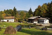 DEU, Deutschland, Bayern, Niederbayern, Naturpark Bayerischer Wald, bei Tittling: Museumsdorf Bayerischer Wald | DEU, Germany, Bavaria, Lower-Bavaria, Nature Park Bavarian Forest, near Tittling: village museum Bavarian Forest