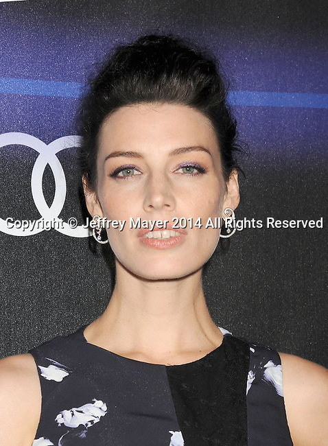 LOS ANGELES, CA- AUGUST 21: Actress Jessica Pare arrives at the Audi Emmy Week Celebration at Cecconi's Restaurant on August 21, 2014 in Los Angeles, California.