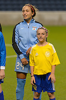 Chicago, IL - Wednesday Sept. 07, 2016: Danielle Colaprico prior to a regular season National Women's Soccer League (NWSL) match between the Chicago Red Stars and FC Kansas City at Toyota Park.