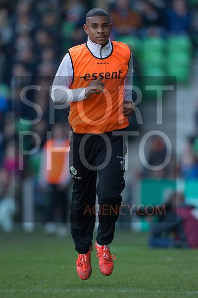 (L-R), Juninho Bacuna of FC Groningen,