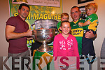 Kerry footballer Aidan O'Mahony with Mike, Johnny and Matthew and Sarah Kate Twomey in Top of Coom last Thursday night.