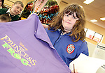 Sadbh Rance wins a Disney Apron as students from Scoil Aonghusa and St. Peters NS attend the Jazz Workshop in Drogheda Library...Photo NEWSFILE/Jenny Matthews.(Photo credit should read Jenny Matthews/NEWSFILE)....This Picture has been sent you under the condtions enclosed by:.Newsfile Ltd..The Studio,.Millmount Abbey,.Drogheda,.Co Meath..Ireland..Tel: +353(0)41-9871240.Fax: +353(0)41-9871260.GSM: +353(0)86-2500958.email: pictures@newsfile.ie.www.newsfile.ie.FTP: 193.120.102.198.