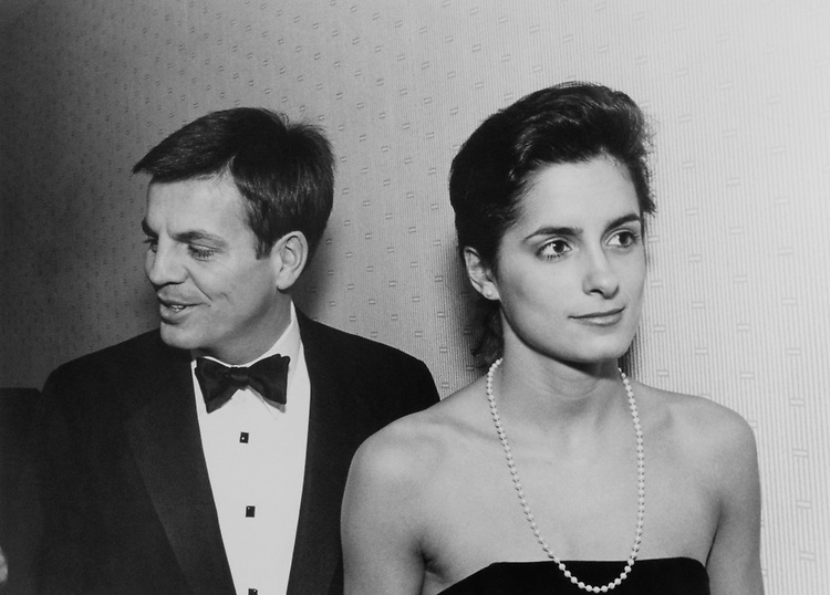 Rep. Mike Synar, D-Okla., Liz Maher to Jack Brooks at DCCC Dinner in March 1988. (Photo by Andrea Mohin/CQ Roll Call)