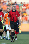 16 August 2014: Assistant referee Jude Carr. The Carolina RailHawks played FC Edmonton at WakeMed Stadium in Cary, North Carolina in a 2014 North American Soccer League Fall Season match. Edmonton won the match 3-2.