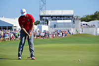 Jon Rahm (ESP) barely misses his putt on 12 during round 7 of the World Golf Championships, Dell Technologies Match Play, Austin Country Club, Austin, Texas, USA. 3/26/2017.<br /> Picture: Golffile | Ken Murray<br /> <br /> <br /> All photo usage must carry mandatory copyright credit (&copy; Golffile | Ken Murray)