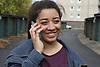 Teenage girl talking on mobile phone