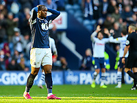 Blackburn Rovers' Ryan Nyambe reacts after the final whistle<br /> <br /> Photographer Alex Dodd/CameraSport<br /> <br /> The EFL Sky Bet Championship - Preston North End v Blackburn Rovers - Saturday 26th October 2019 - Deepdale Stadium - Preston<br /> <br /> World Copyright © 2019 CameraSport. All rights reserved. 43 Linden Ave. Countesthorpe. Leicester. England. LE8 5PG - Tel: +44 (0) 116 277 4147 - admin@camerasport.com - www.camerasport.com