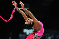Dora Vass of Hungary performs at 2011 World Cup at Portimao, Portugal on April 30, 2011.  .