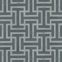 Windsor, a stone mosaic in Bardiglio and Carrara, is part of the Silk Road® collection by New Ravenna.