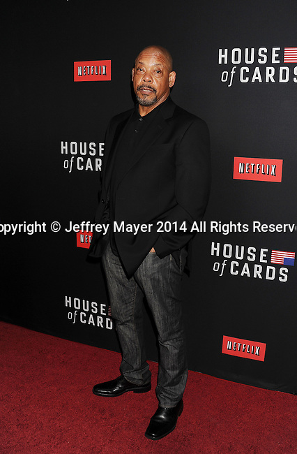 LOS ANGELES, CA- FEBRUARY 13: Director Carl Franklin arrives at the 'House Of Cards' Season 2 special screening at Directors Guild Of America on February 13, 2014 in Los Angeles, California.
