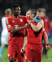 Fussball DFB Pokal:  Saison   2011/2012  Achtelfinale  20.12.2011 VfL Bochum - FC Bayern Muenchen  David Alaba, Franck Ribery (v. li., FC Bayern Muenchen)