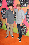 LOS ANGELES, CA. - March 27: Dylan Sprouse and Cole Sprouse arrive at Nickelodeon's 23rd Annual Kid's Choice Awards at Pauley Pavilion on March 27, 2010 in Los Angeles, California.