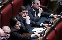 Nicola Cosentino durante il  voto.Roma 12/1/2012 Voto alla  Camera dei Deputati  sulla proposta della Giunta di concedere l'autorizzazione ad eseguire la misura cautelare della custodia in carcere nei confronti di un deputato PDL.Foto Insidefoto  Serena Cremaschi.............