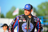 May 4, 2012; Commerce, GA, USA: NHRA funny car driver Robert Hight during qualifying for the Southern Nationals at Atlanta Dragway. Mandatory Credit: Mark J. Rebilas-