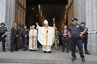 www.acepixs.com<br /> <br /> April 16 2017, New York City<br /> <br /> Archbishop of New York Cardinal Timothy Dolan celebrates Easter outside St. Patrick's Cathedral as New Yorkers enjoyed the annual parade on April 16 2017 in New York City<br /> <br /> By Line: Curtis Means/ACE Pictures<br /> <br /> <br /> ACE Pictures Inc<br /> Tel: 6467670430<br /> Email: info@acepixs.com<br /> www.acepixs.com