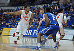 February 20, 2016 - Colorado Springs, Colorado, U.S. -   New Mexico forward, Tim Willimas #32, looks for an inbounds pass during an NCAA basketball game between the University of New Mexico Lobos and the Air Force Academy Falcons at Clune Arena, United States Air Force Academy, Colorado Springs, Colorado.    Air Force defeats New Mexico 76-72.