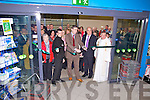 Daragh O'Shea officially opened the new Gala Supermarket in Cahersiveen on Thursday when he cut the ribbon pictured centre with Terry Dunne(Prop) & Canon Billy Crean who blessed the shop.