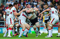James Phillips of Bristol Rugby takes on the Doncaster Knights defence. Greene King IPA Championship Play-off Final (second leg), between Bristol Rugby and Doncaster Knights on May 25, 2016 at Ashton Gate Stadium in Bristol, England. Photo by: Patrick Khachfe / JMP