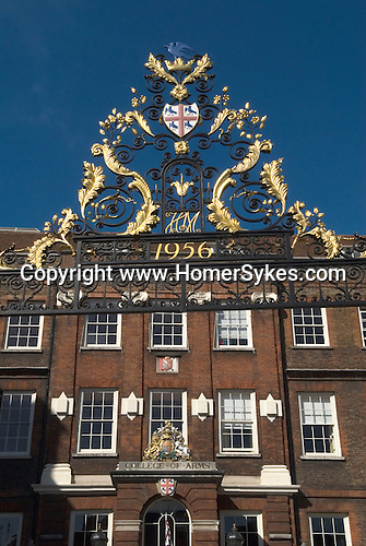 College of Arms, or Heralds' College Queen Victoria Street London UK