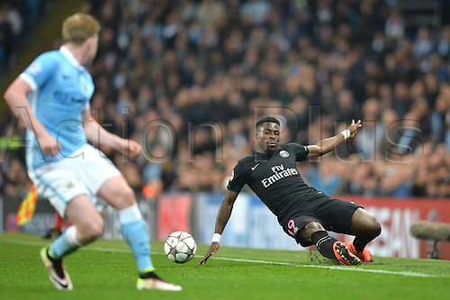 12.04.2016. manchester, England. UEFA Champions league, quarterfinals, second leg. Manchester City versus Paris St Germain.  SERGE AURIER (psg)