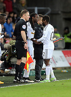 Pictured: Nathan Dyer is substituted by Marvin Emnes Saturday 10 January 2015<br />