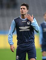 Fussball 2. Bundesliga:  Saison   2012/2013,    16. Spieltag  TSV 1860 Muenchen - SC Paderborn  27.11.2012 Moritz Stoppelkamp (1860 Muenchen)