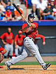 7 March 2011: Houston Astros' outfielder Brian Bogusevic in action during a Spring Training game against the Washington Nationals at Space Coast Stadium in Viera, Florida. The Nationals defeated the Astros 14-9 in Grapefruit League action. Mandatory Credit: Ed Wolfstein Photo