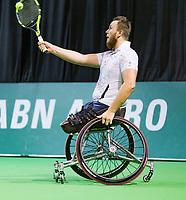 Rotterdam, The Netherlands, 14 Februari 2019, ABNAMRO World Tennis Tournament, Ahoy, Wheelchair final doubles, Nicolas Peifer (FRA), <br /> Photo: www.tennisimages.com/Henk Koster