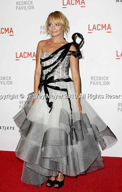 "LOS ANGELES, CA. - September 25: Nicole Richie attends the LACMA Presents ""Unmasking"": The Lynda & Stewart Resnick Exhibition Gala at LACMA on September 25, 2010 in Los Angeles, California."