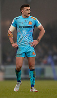 Exeter Chiefs' Henry Slade<br /> <br /> Photographer Bob Bradford/CameraSport<br /> <br /> European Rugby Heineken Champions Cup Pool 2 - Exeter Chiefs v Castres - Sunday 13th January 2019 - Sandy Park - Exeter<br /> <br /> World Copyright &copy; 2019 CameraSport. All rights reserved. 43 Linden Ave. Countesthorpe. Leicester. England. LE8 5PG - Tel: +44 (0) 116 277 4147 - admin@camerasport.com - www.camerasport.com