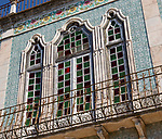 Close-up of historic old traditional Portuguese building, Castro Verde, Baixo Alentejo, Portugal, southern Europe