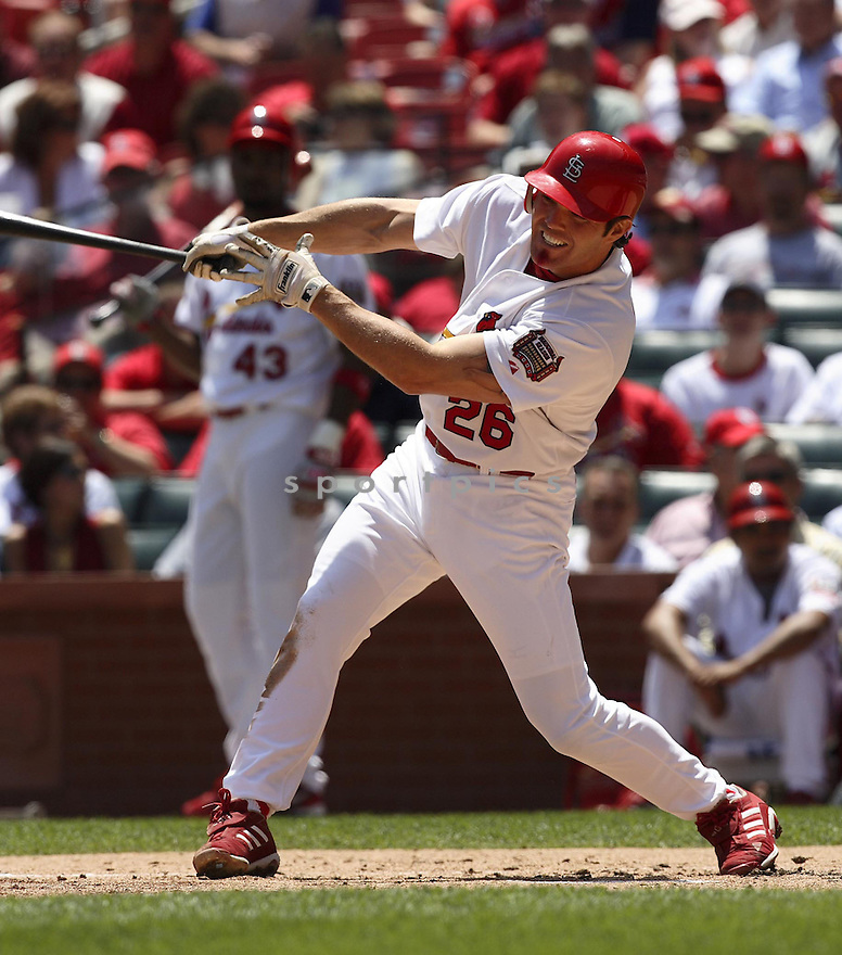 Scott Spiezio, of the St. Louis Cardinals, in action against the New York Mets during their game on May 18, 2006...Cardinals win 6-3..Dilip Vishwanat / SportPics