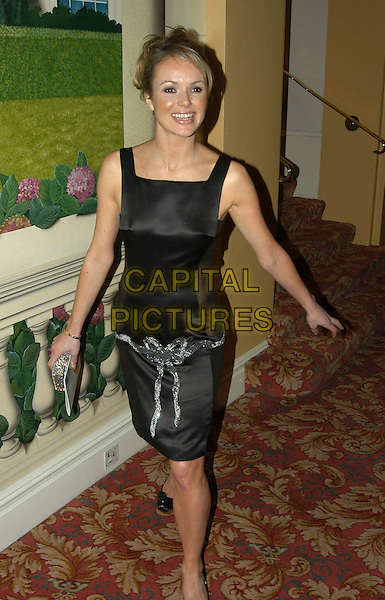 AMANDA HOLDEN.Royal Television Society awards, Grosvenor House Hotel, London, UK..March 18th, 2003.full length black dress satin silver.CAP/PL.©Phil Loftus/Capital Pictures